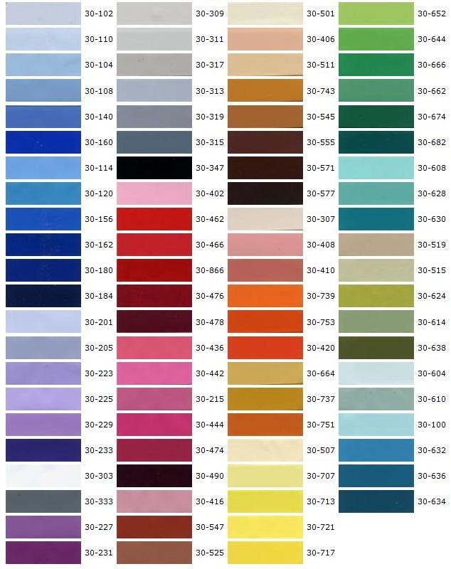Цветовая гамма полотен натяжных потолков