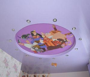 натяжные потолки в детскую 3